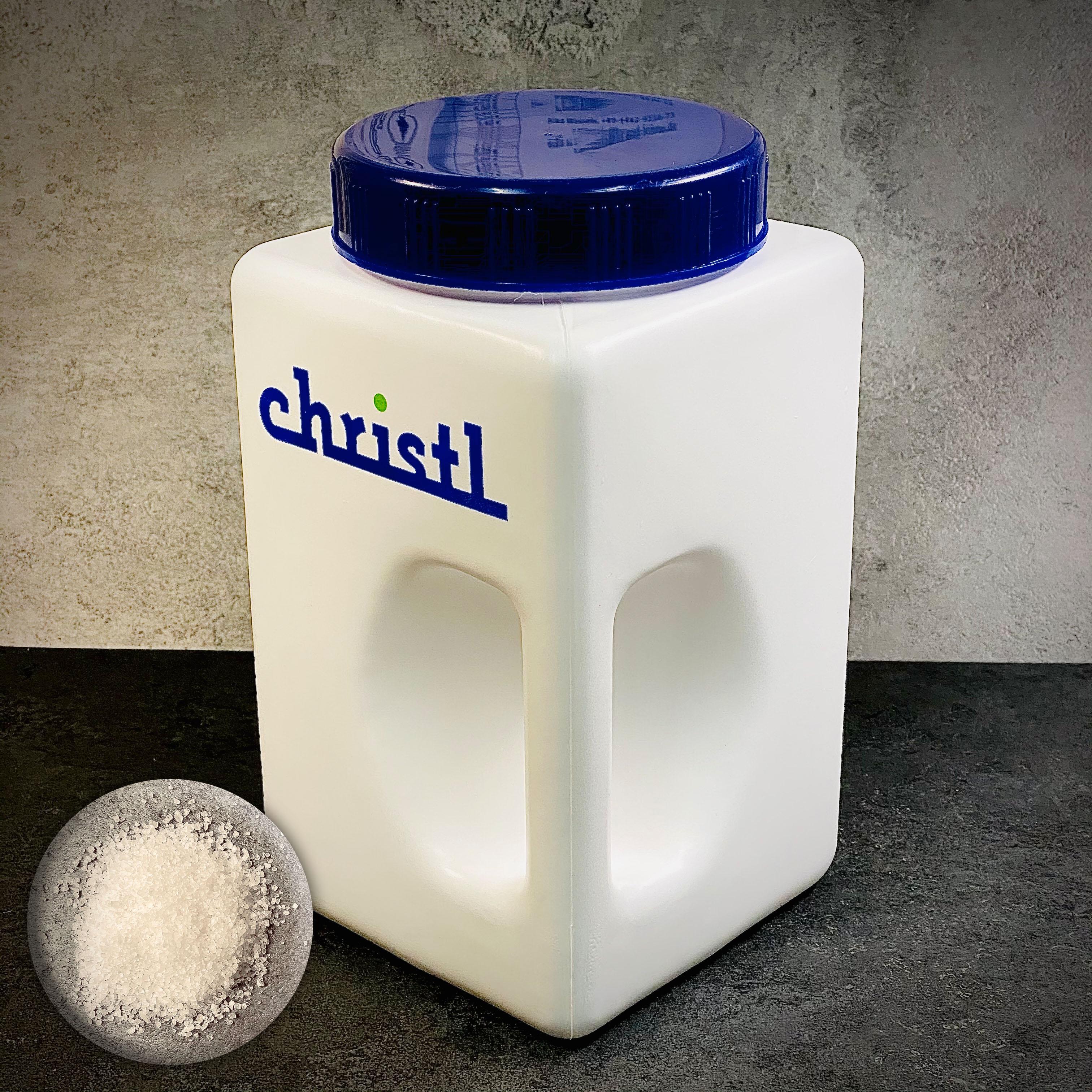 SET // CHRISTL | CHRISALE Gewürzdose gefüllt mit ca. 3kg feinem Meersalz mit Nitrit