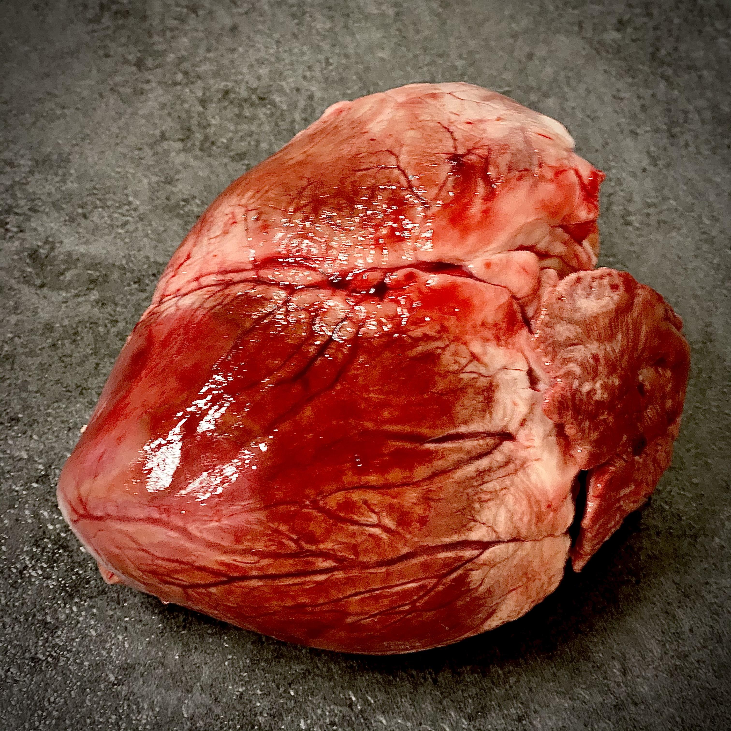 Herz vom Hausschwein, 5er Pack, vakuumverpackt