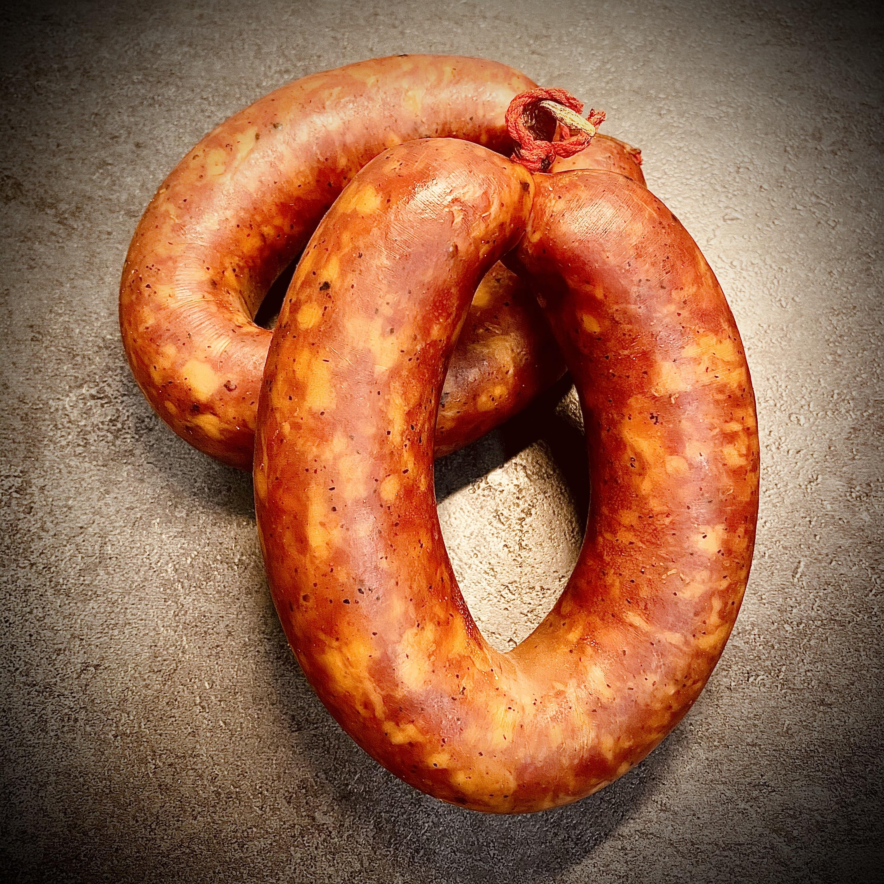 StrohGOLD Mettwurst-Ring / Bratwurst-Ring / Knackwurst, Knackwurst-Ring, Rohwurst