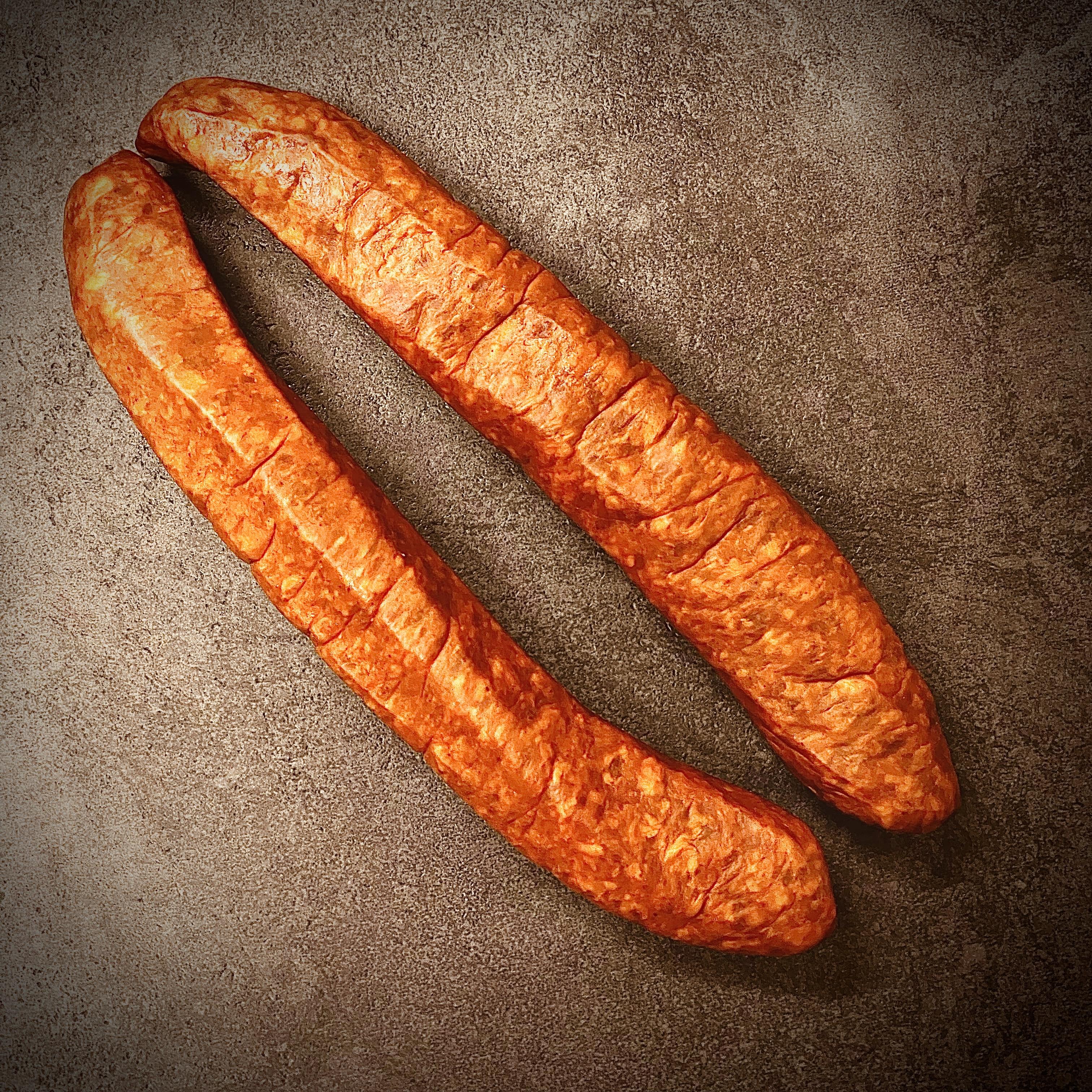 Schickl's scharfe Paprikawurst, 2 Paar = 4 Stück, 900 Gramm