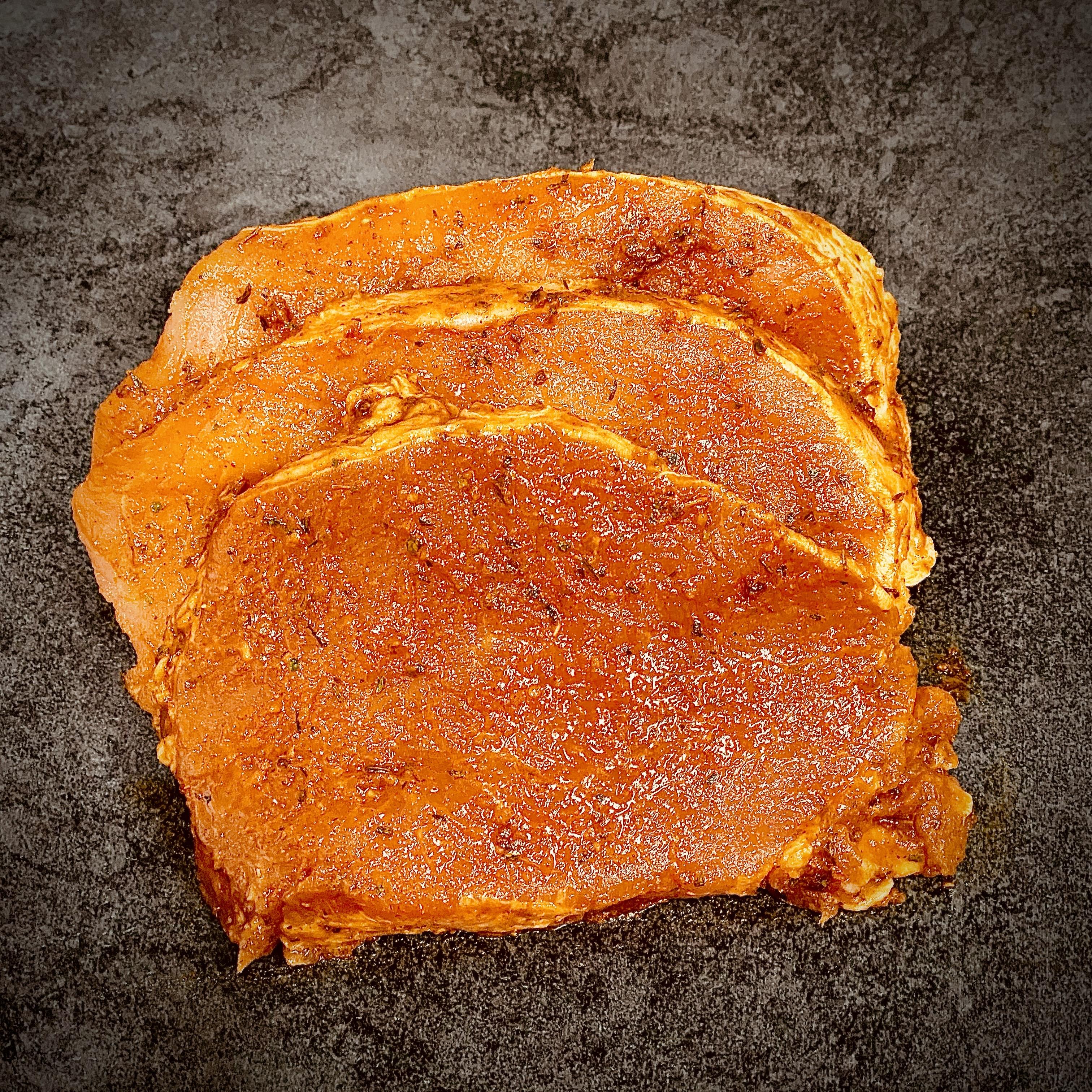 StrohGOLD Rückensteaks. Fleisch ohne Gentechnik. 2kg-Paket, Allergenfrei. Ohne Geschmacksverstärker.
